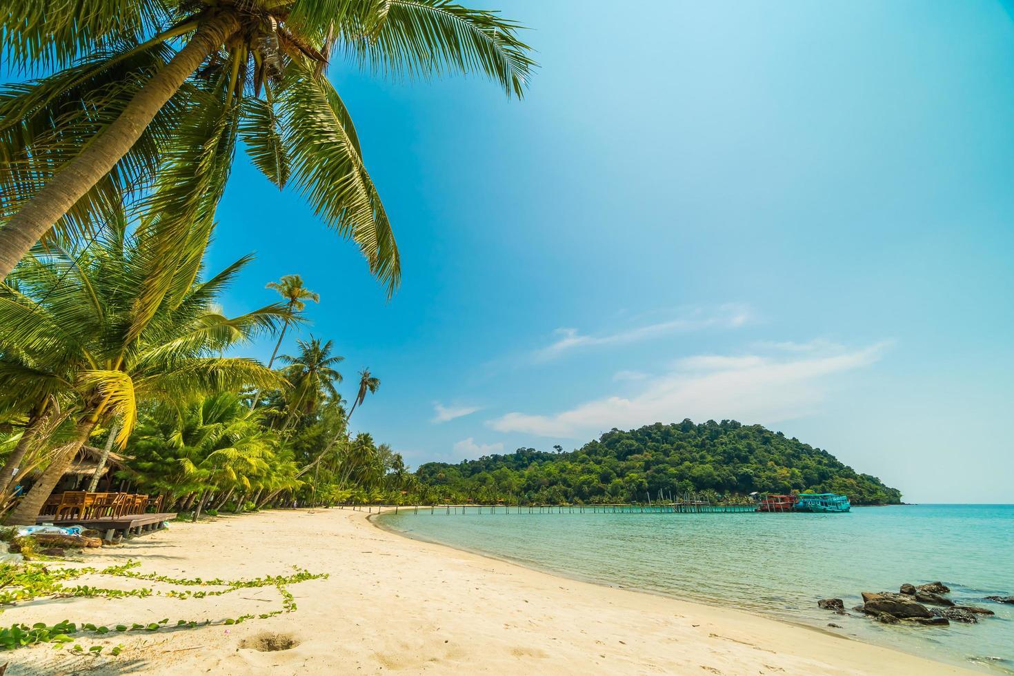 Beautiful tropical beach and sea photo