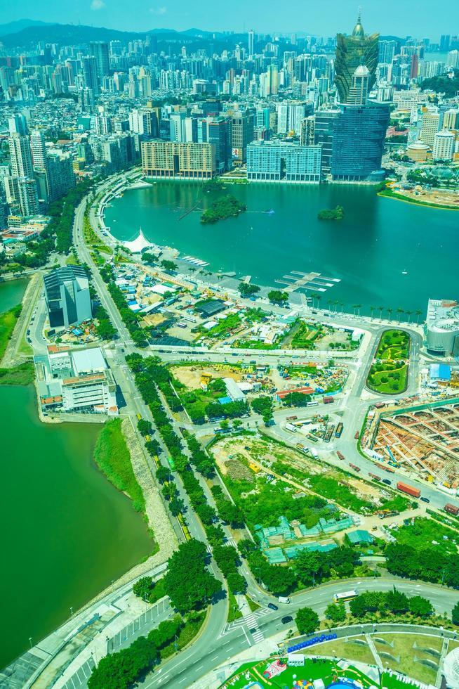 Aerial view of Macau City, China photo