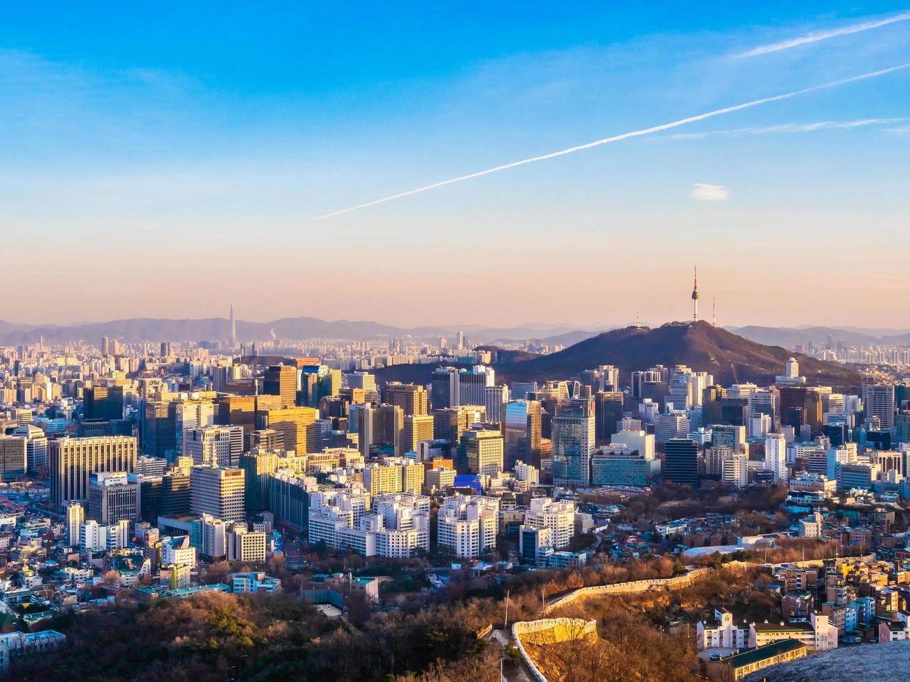 Cityscape of Seoul, South Korea photo