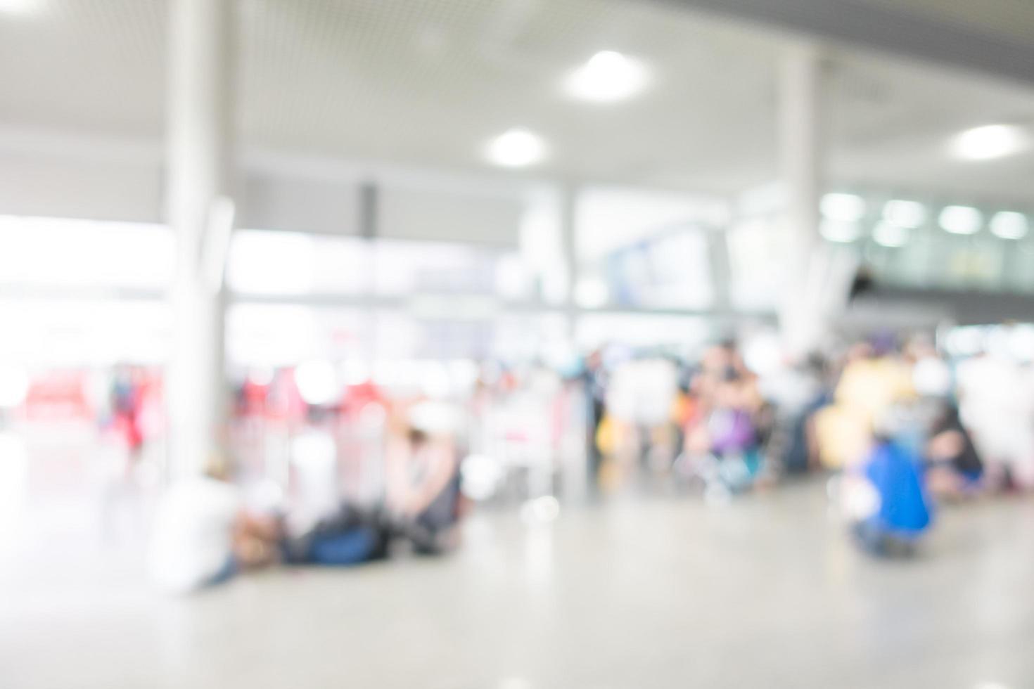 Fondo abstracto del aeropuerto borroso foto