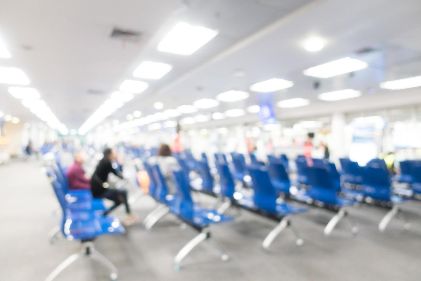 Abstract blurred airport background photo