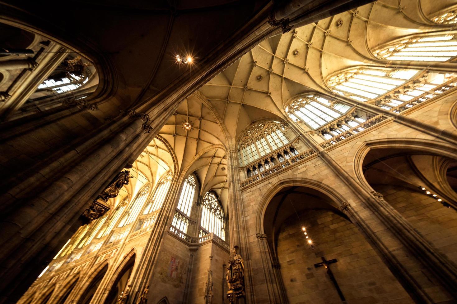 Praga, República Checa 2018 - nave principal de la catedral de San Vito foto