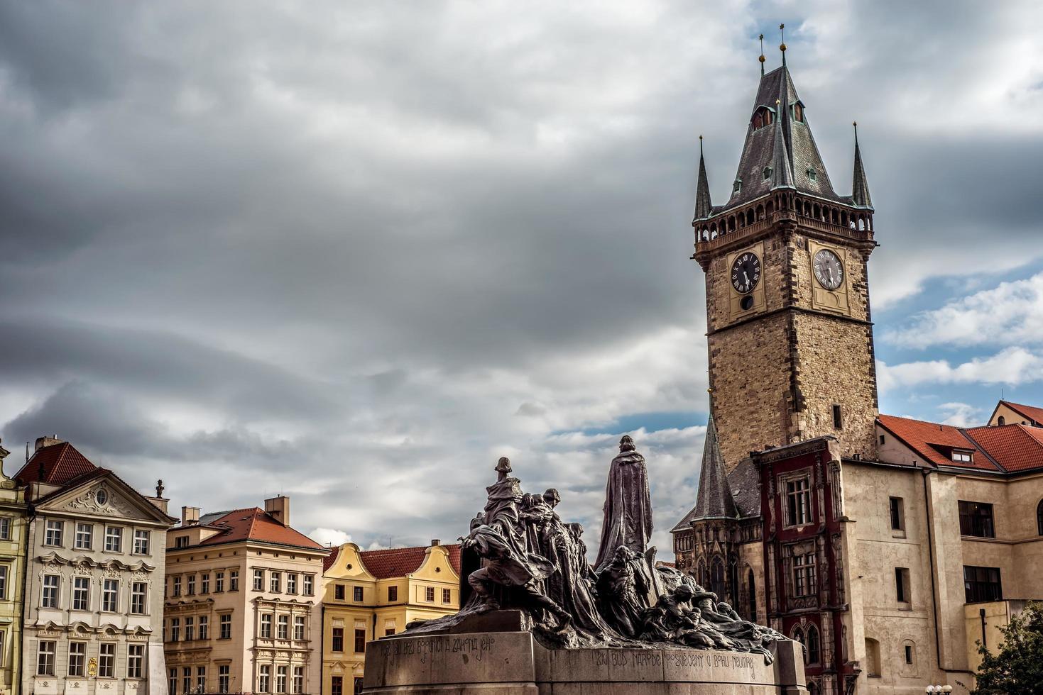 Plaza de la ciudad vieja de Praga, República Checa foto
