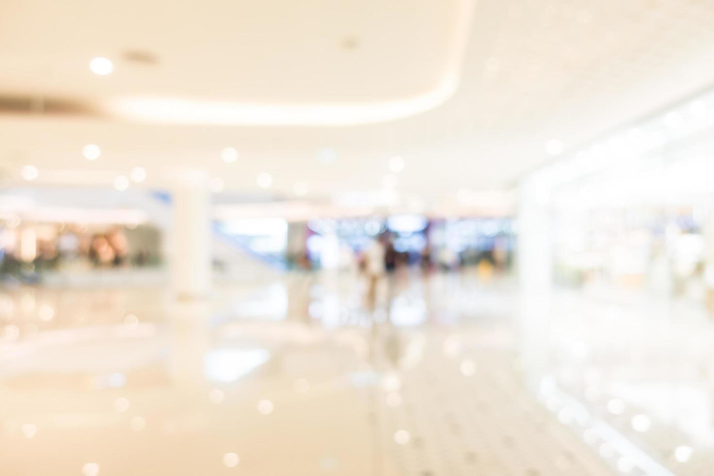interior del centro comercial desenfocado abstracto foto