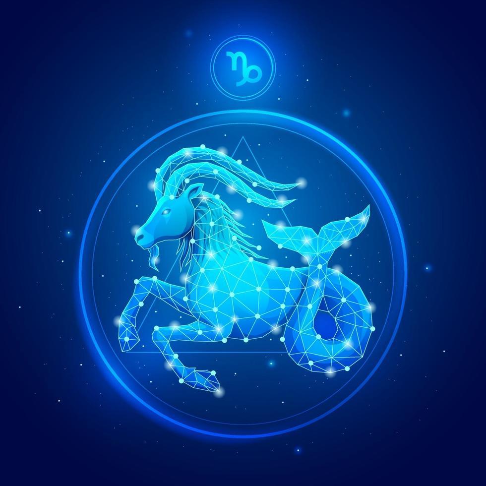Capricornio signo del zodíaco iconos. vector