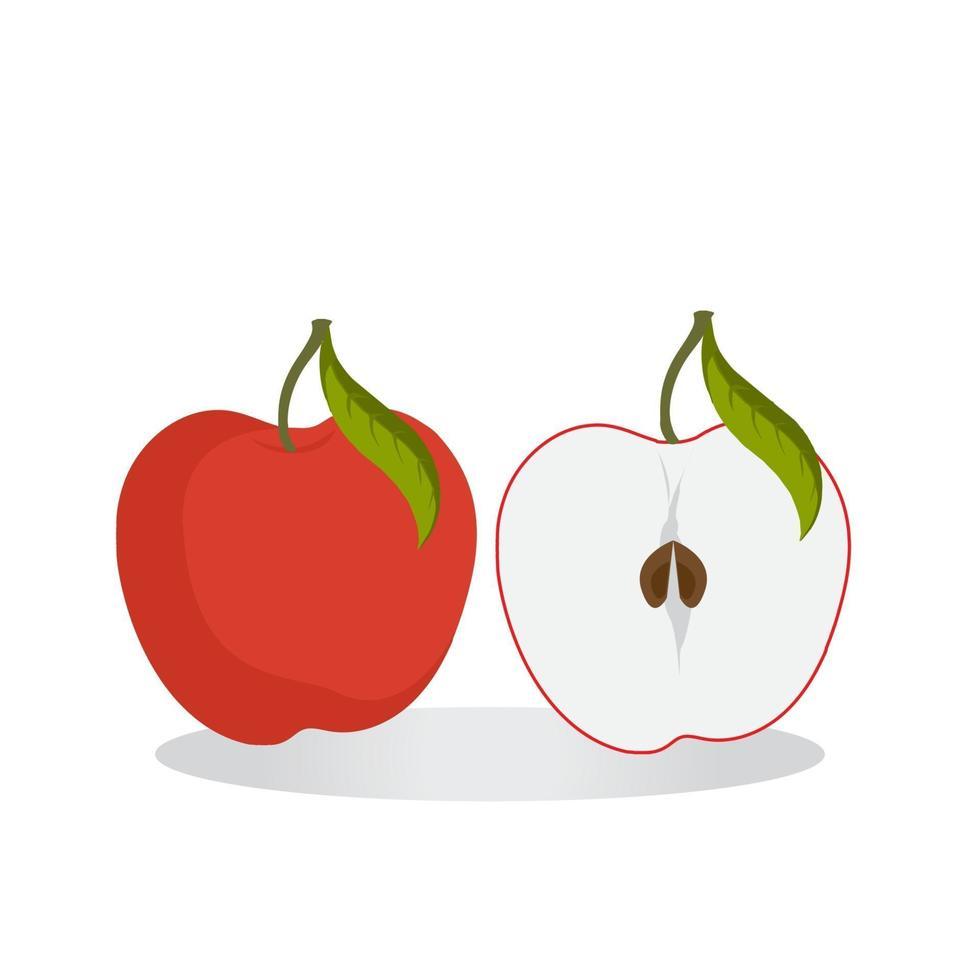 icono de manzana para proyectos de diseño gráfico vector