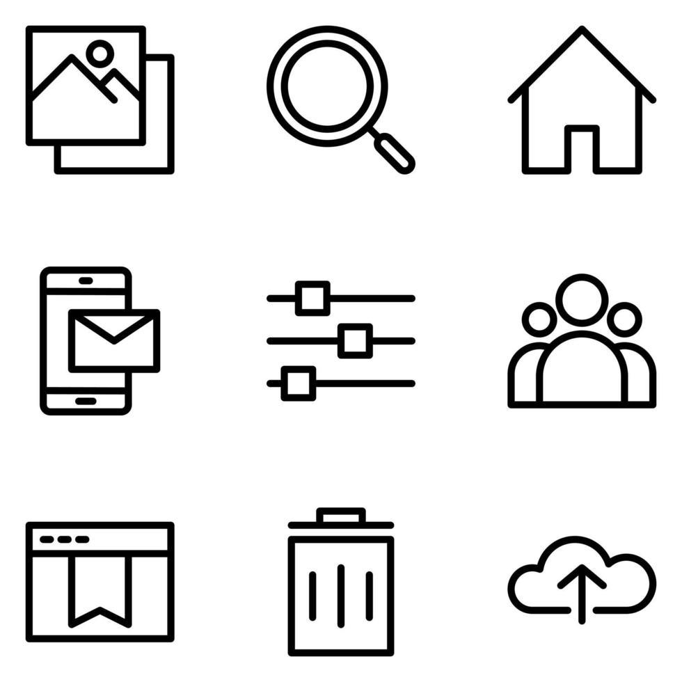 conjunto de iconos de redes sociales vector