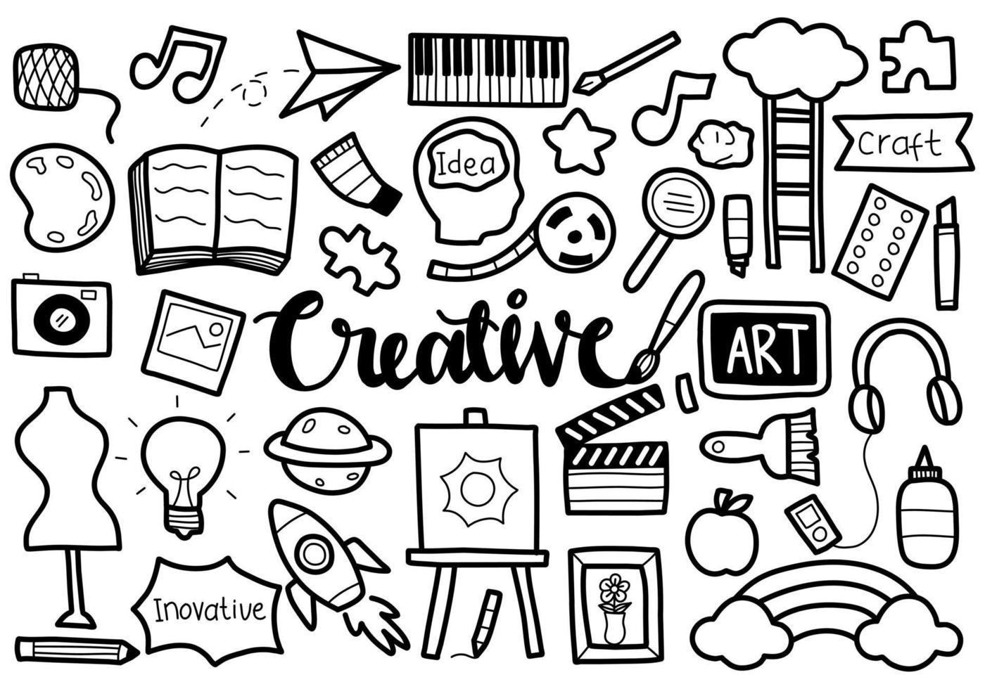 símbolo creativo del doodle vector