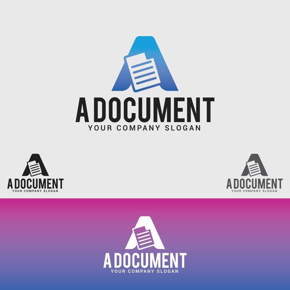 una plantilla de logotipo de documento vector