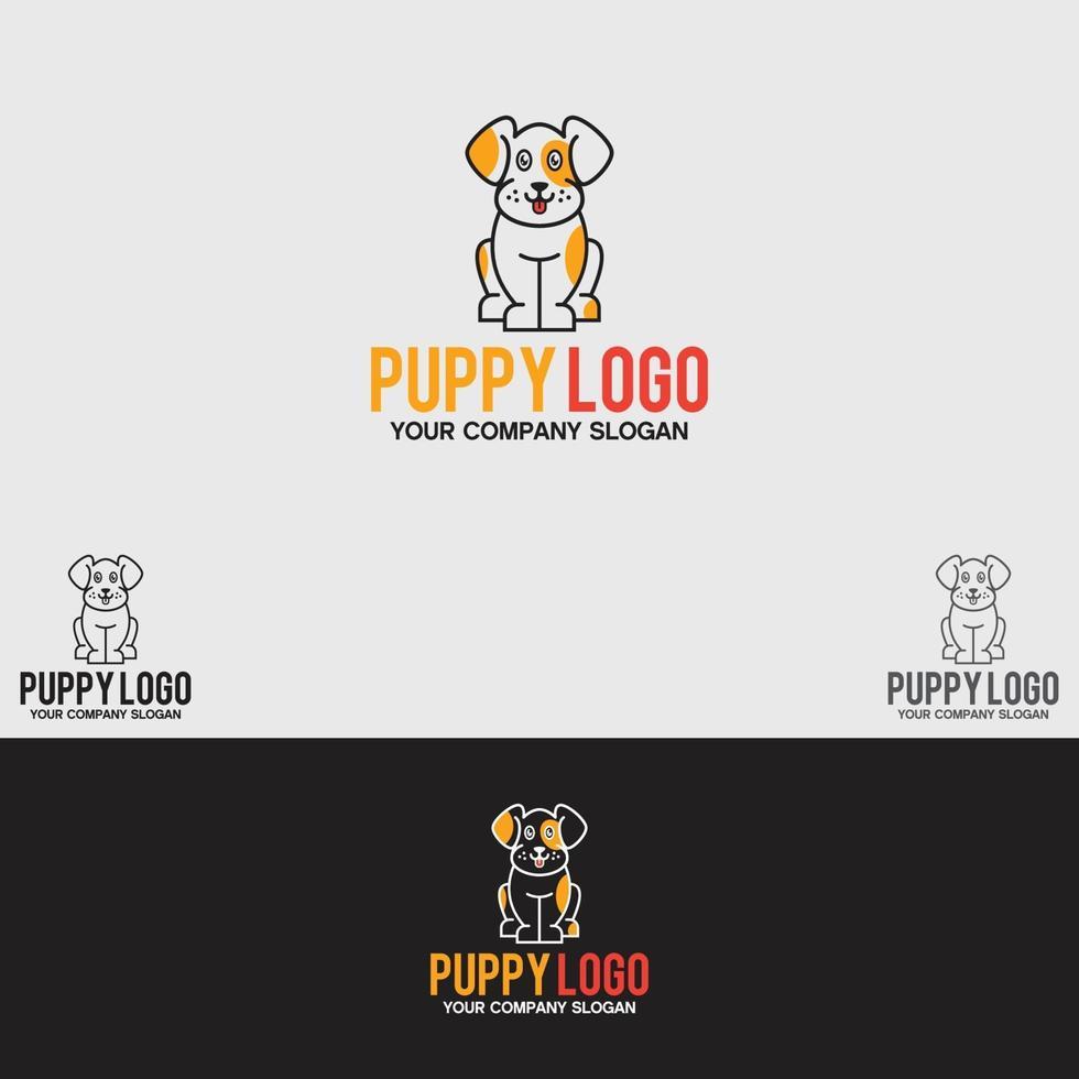 plantilla de diseño de logotipo de cachorro vector