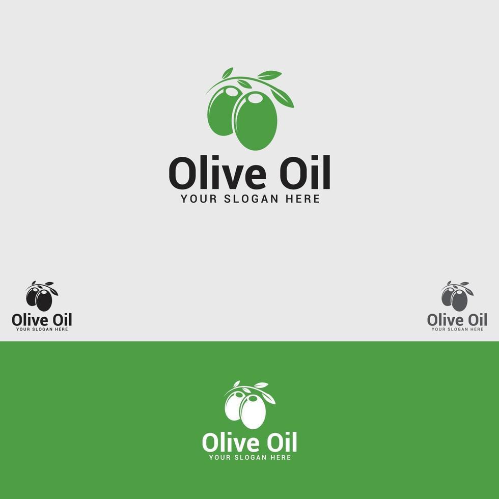 plantilla de vector de diseño de logotipo de aceite de oliva