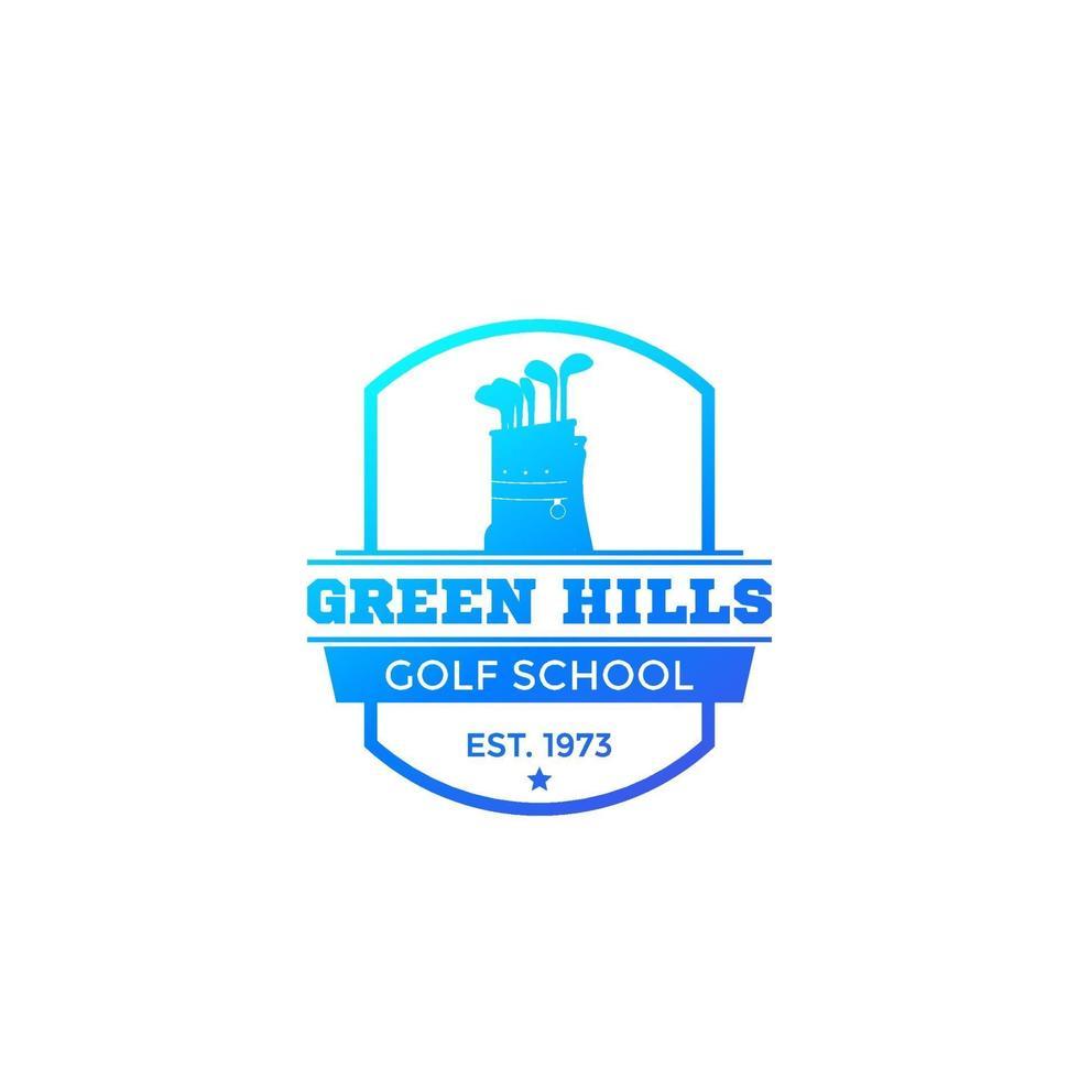 escuela de golf, vector, logo., eps vector