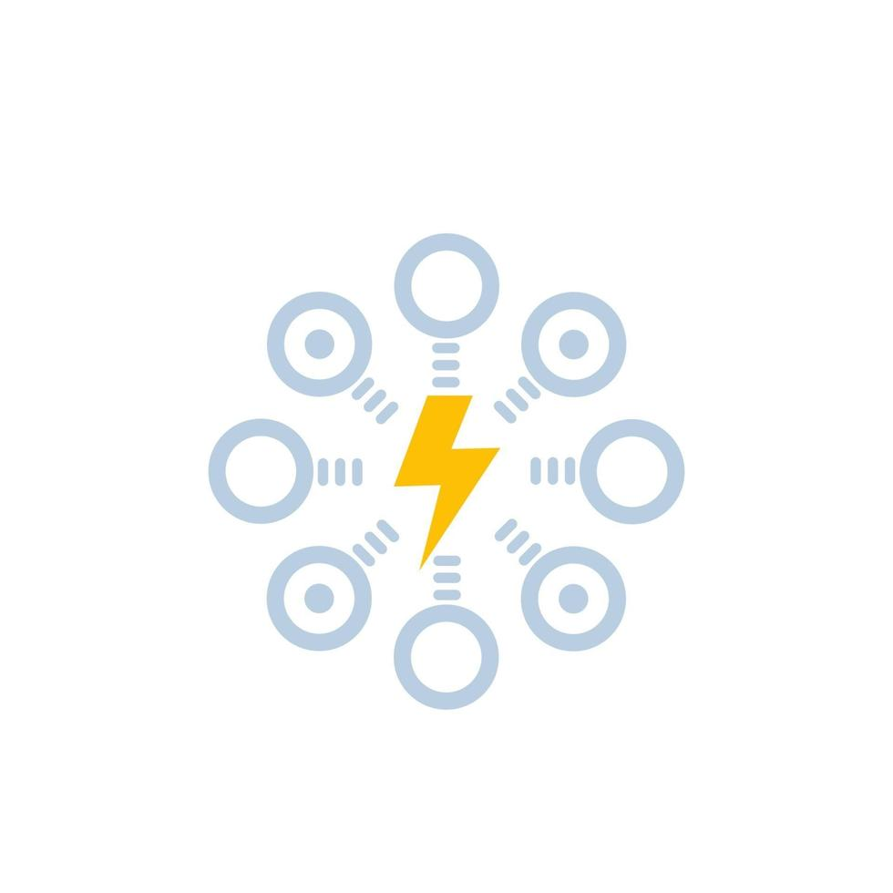 electric power distribution icon.eps vector