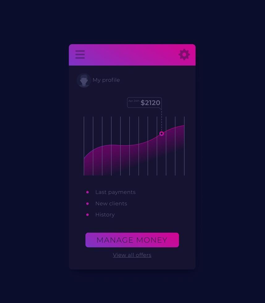 comercio electrónico, aplicación de pagos, diseño de interfaz de usuario móvil.eps vector