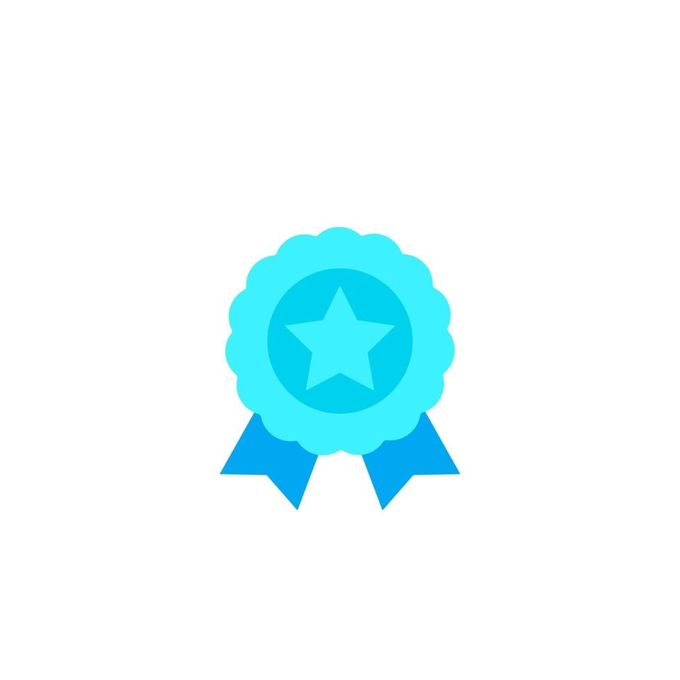 Insignia con estrella, premio icon.eps vector
