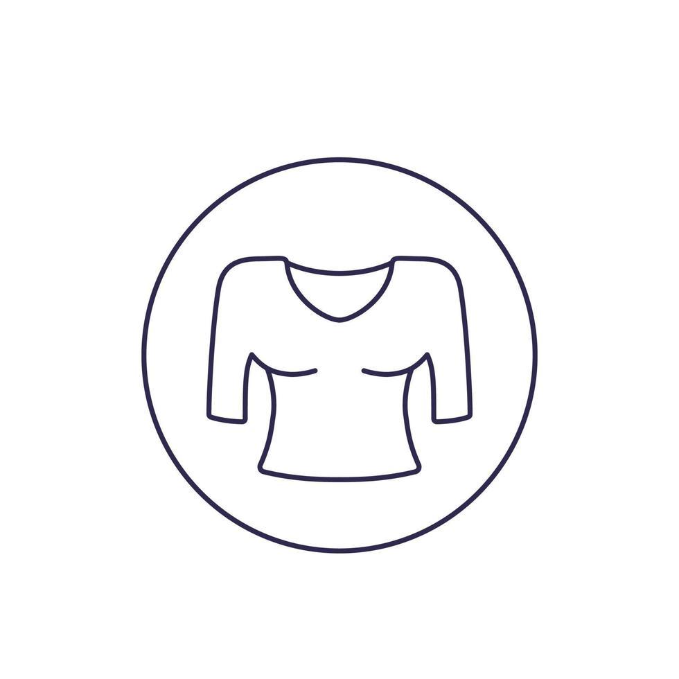 blusa vector línea icon.eps