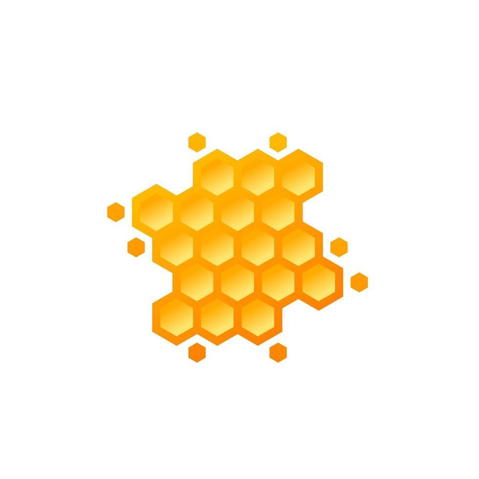 nido de abeja en blanco, diseño vectorial.eps vector