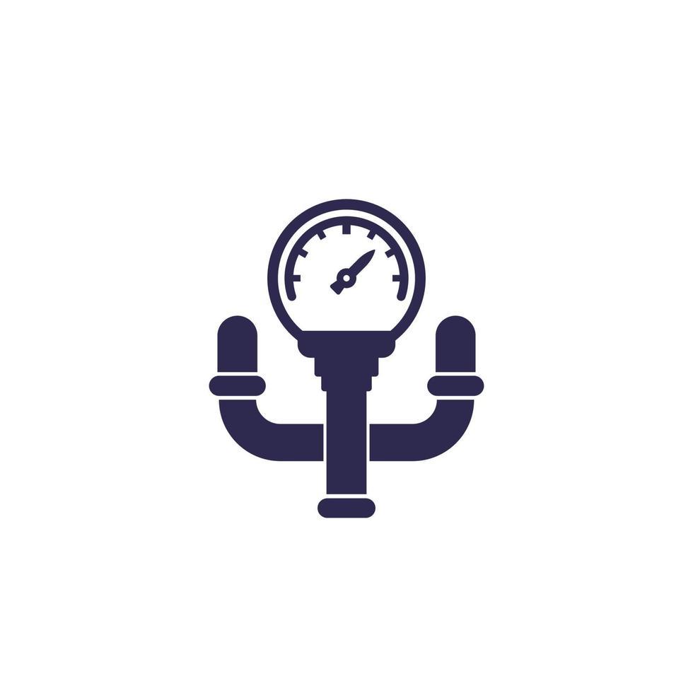 manómetro con tubo vector icon.eps