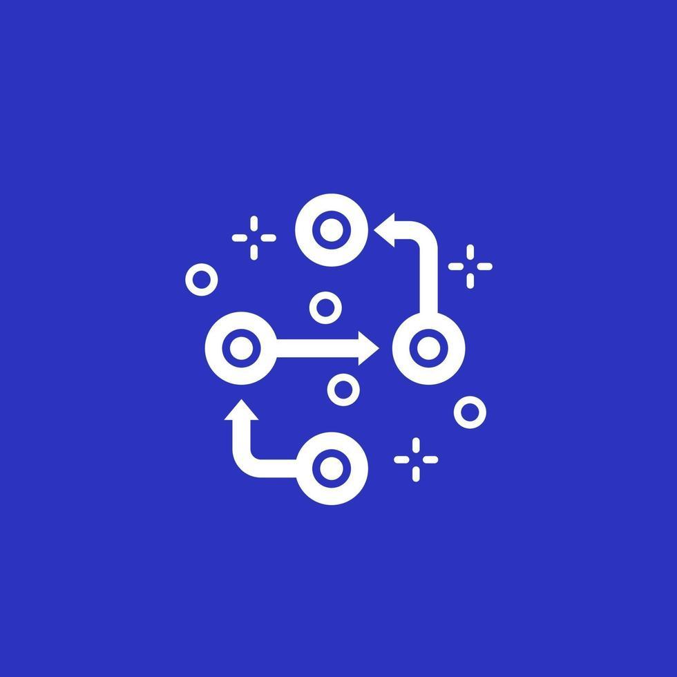 Metodología, pasos del proyecto vector icon.eps