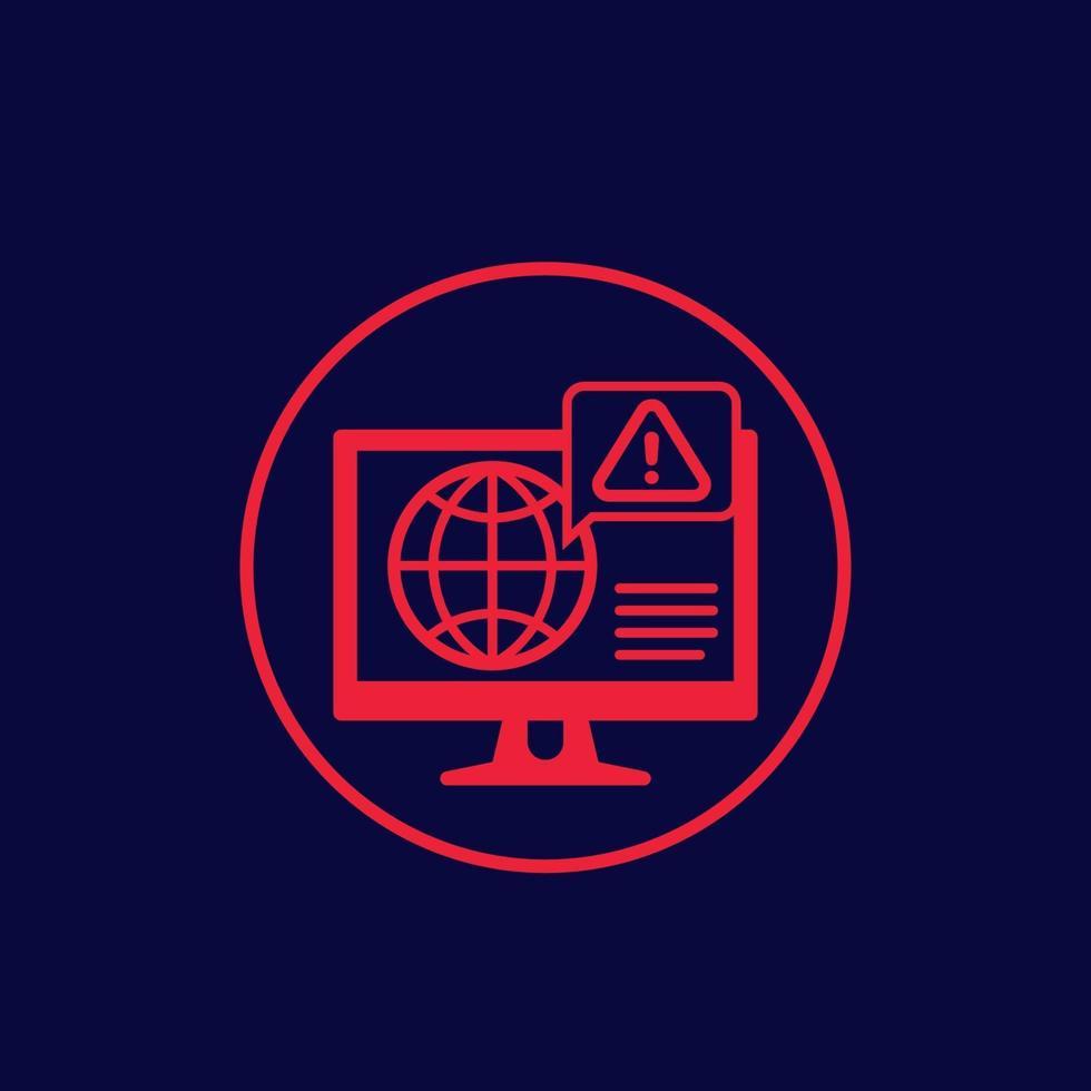 network warning alert vector icon.eps