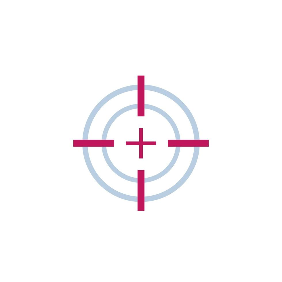 objetivo objetivo o punto de mira vector icon.eps