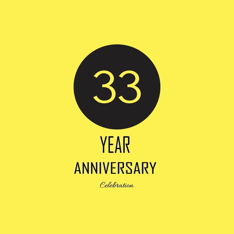 Anniversary celebration on yellow background. Vector festive illustration. Birthday or wedding party event decoration