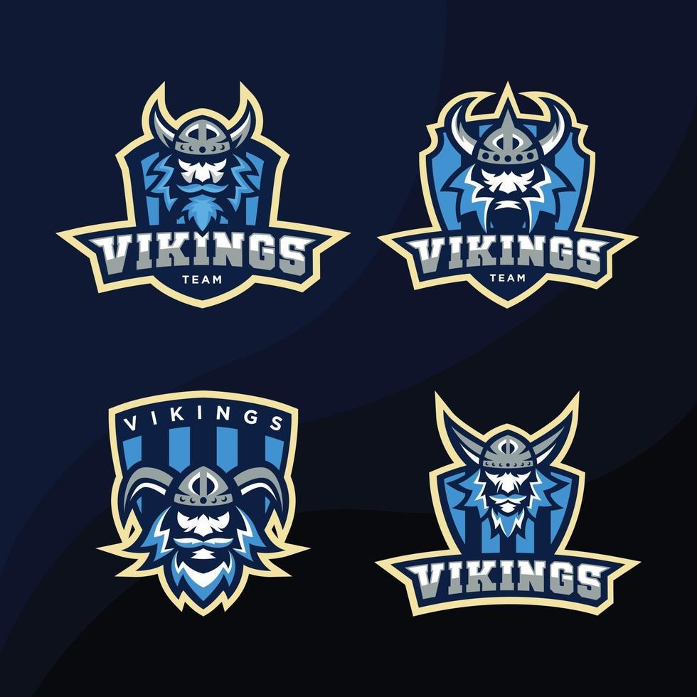 Blue Viking Logo Design Bundle vector