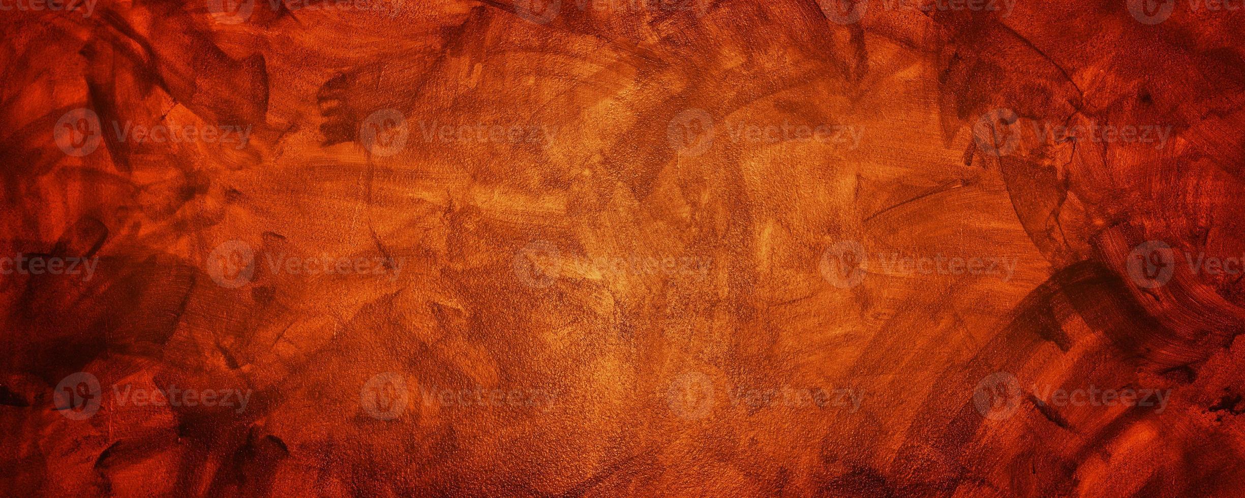 cemento o muro de hormigón de color amarillo oscuro y naranja para el fondo o la textura foto