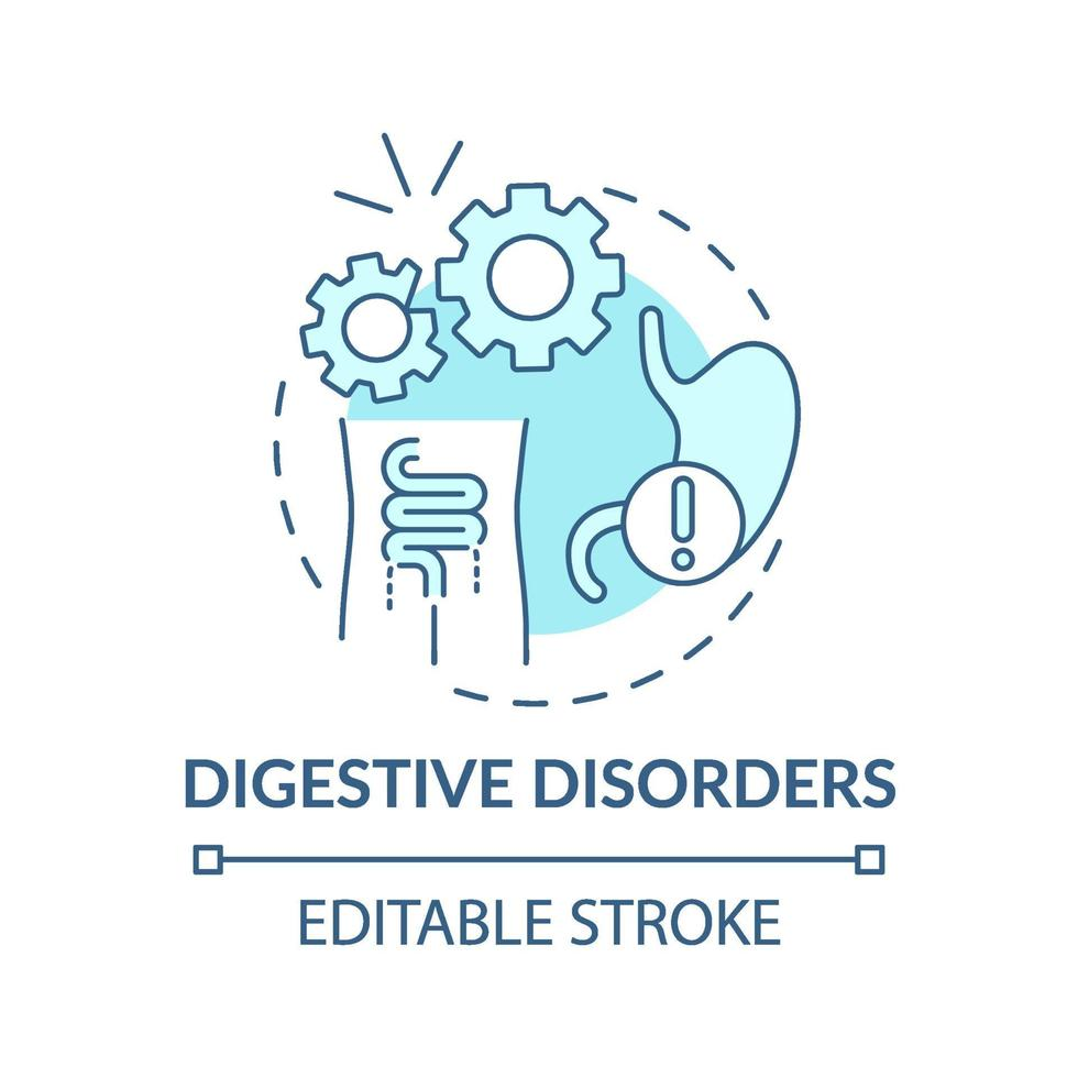 Digestive disorders concept icon vector