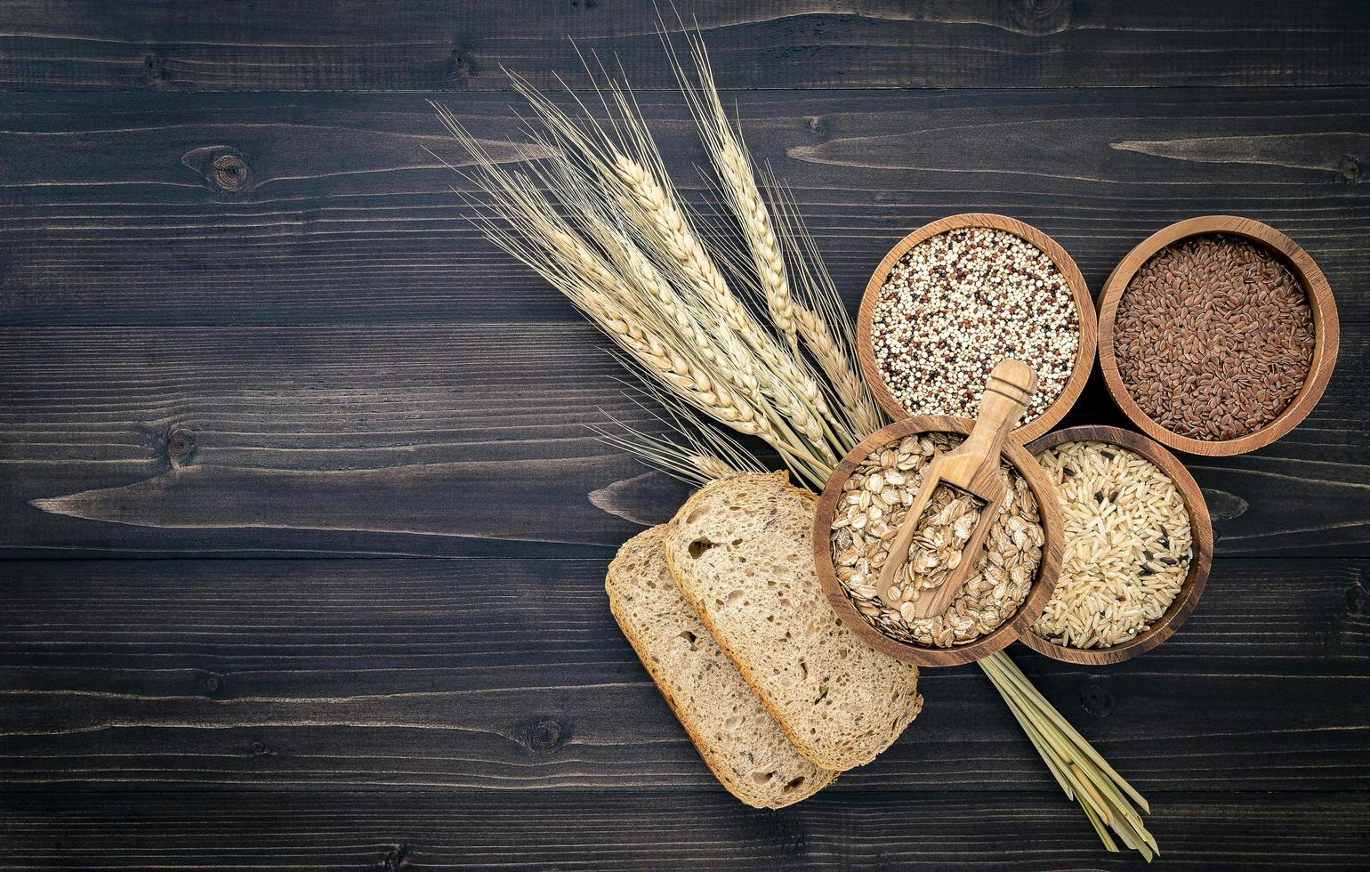 Whole grains and copy space photo