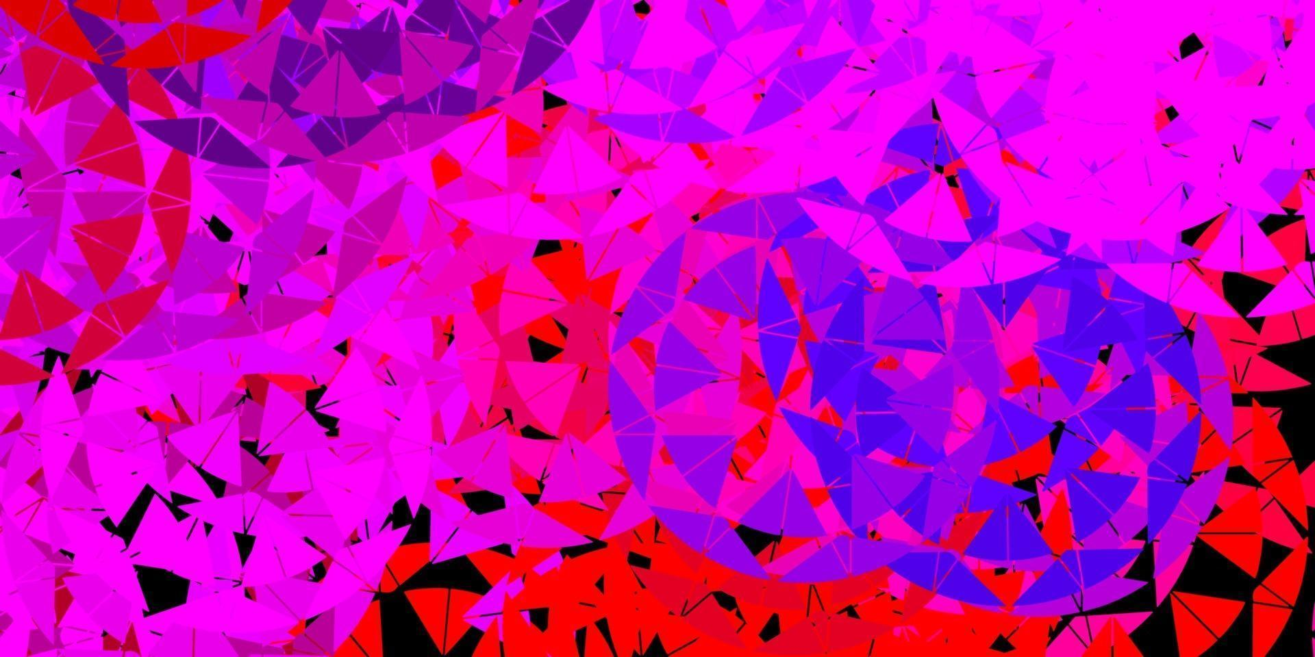 Light pink, red vector background with polygonal forms.