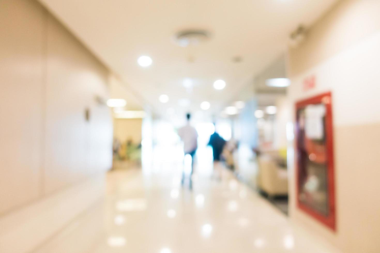 interior desenfocado abstracto del hospital y la clínica foto