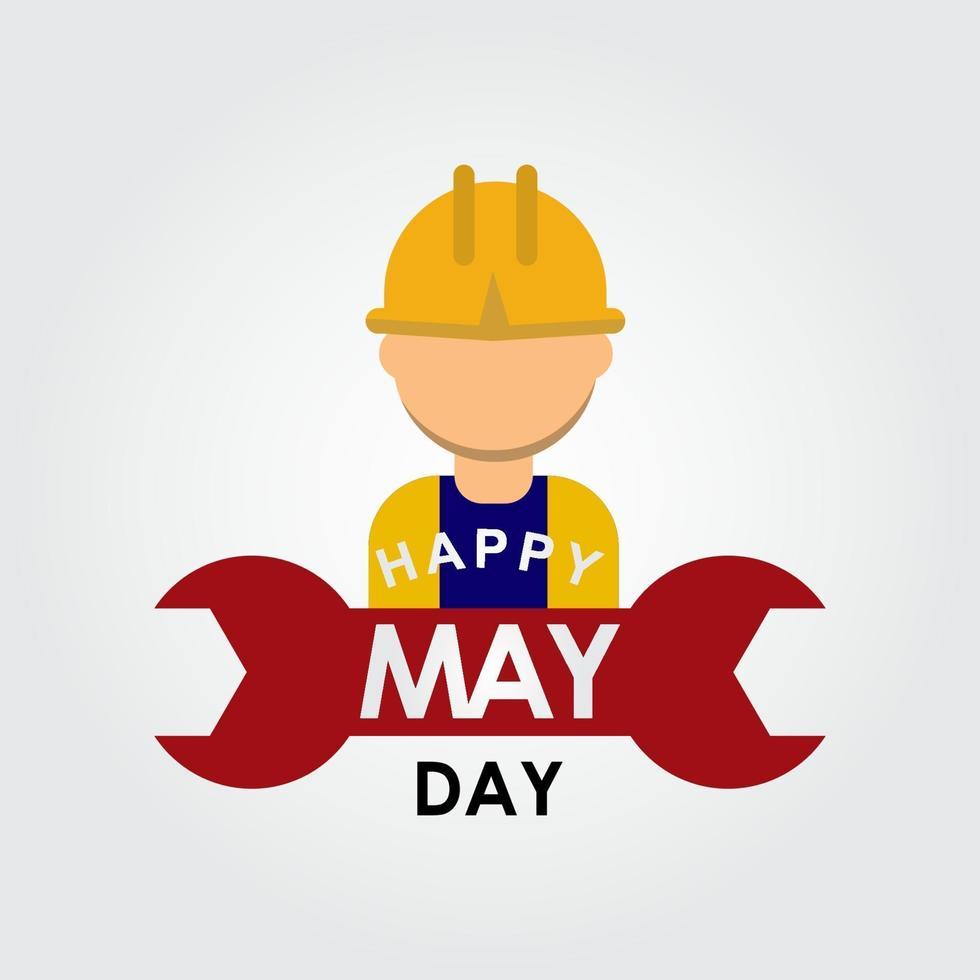 feliz día de mayo logo vector plantilla diseño ilustración