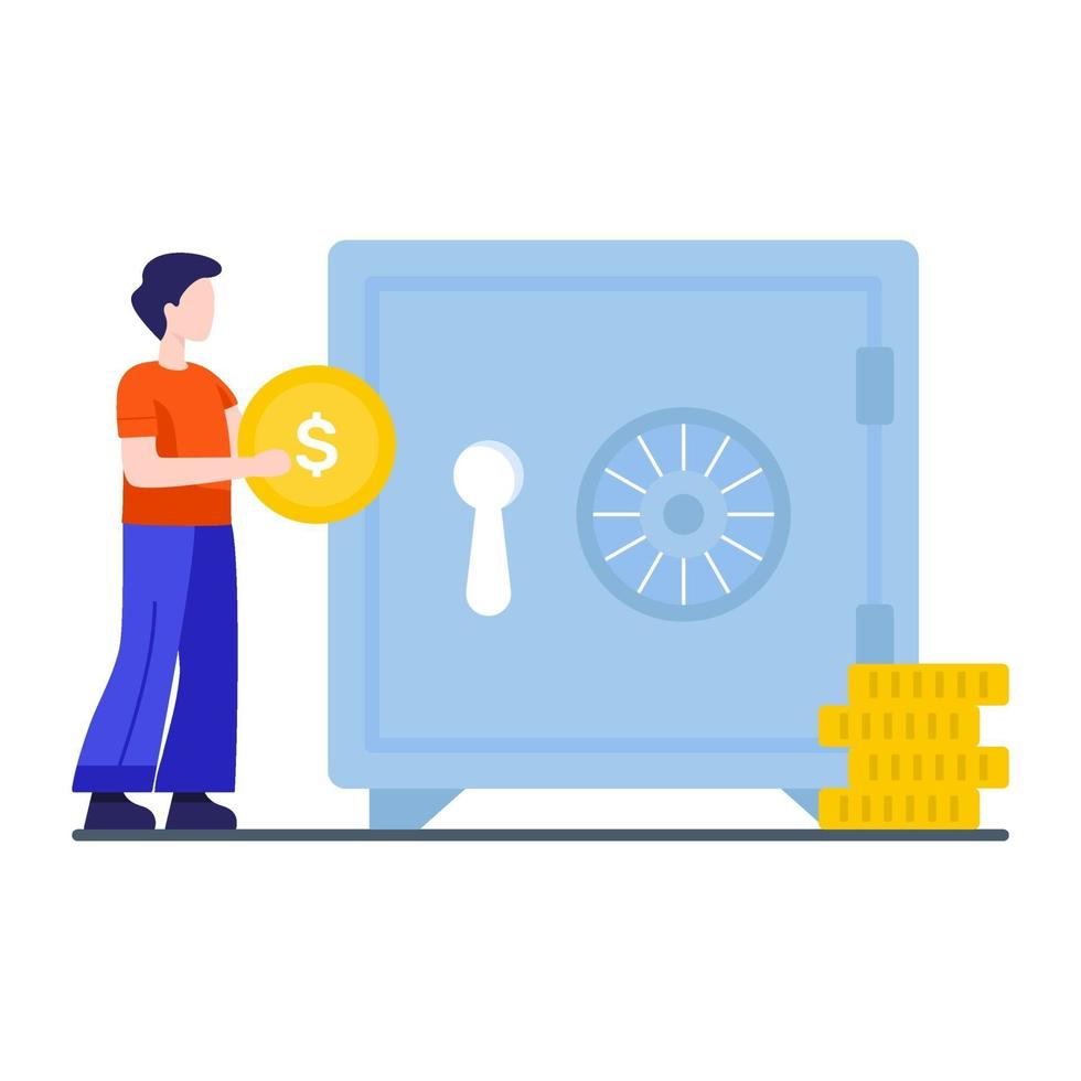 Savings and Retirement Concept vector