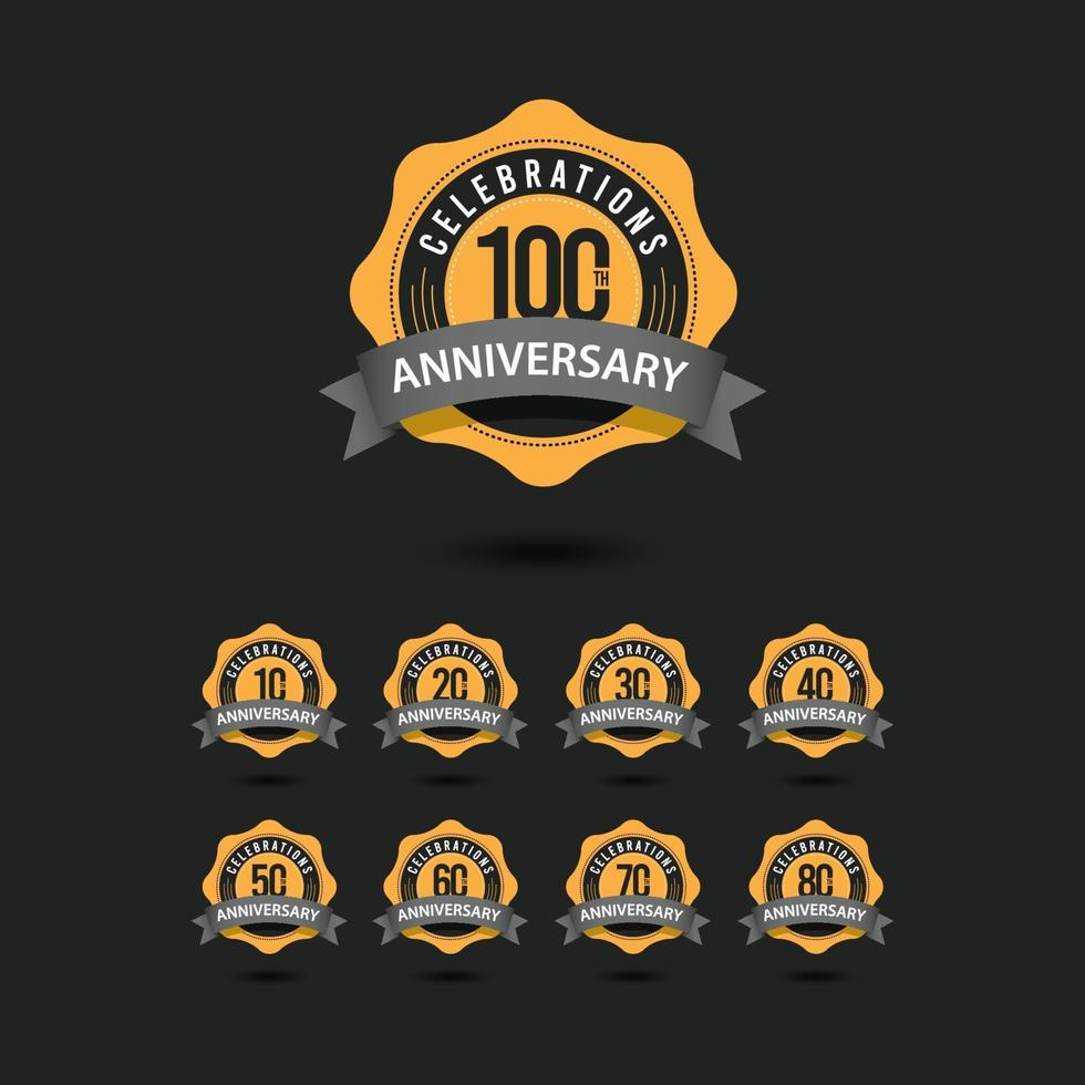 100 Th Anniversary Celebrations Vector Template Design Illustration