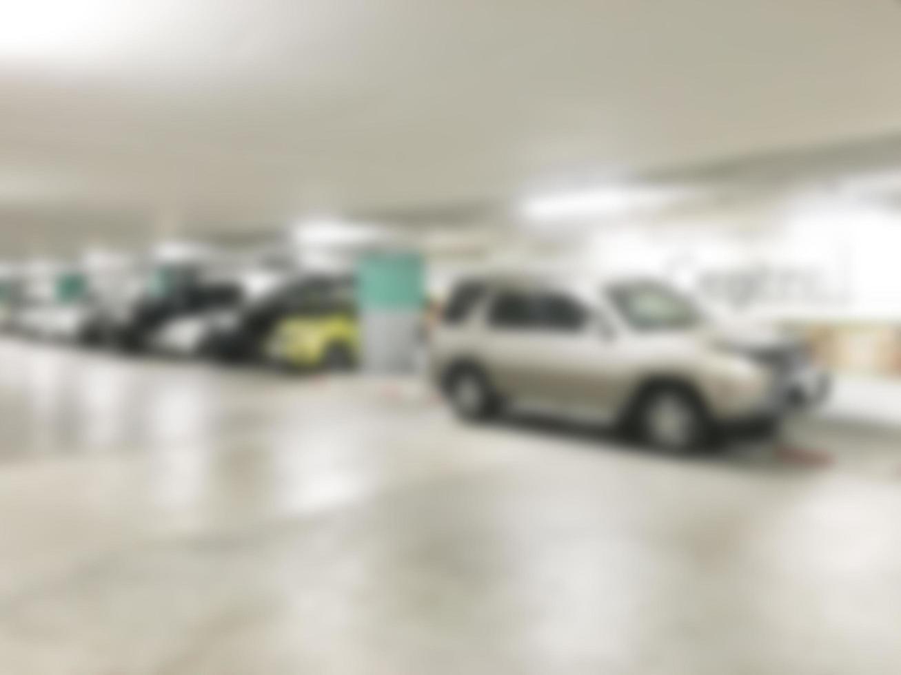 Defocused garage background photo