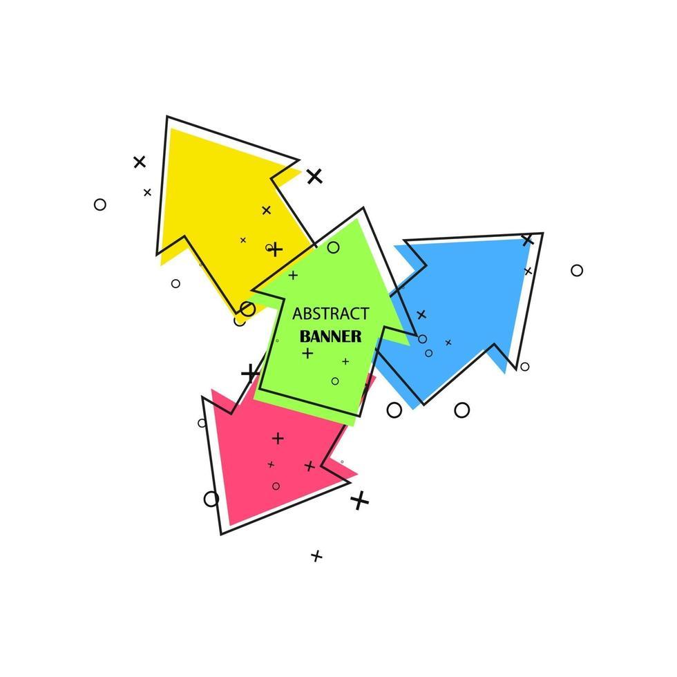 pancartas geométricas. etiquetas promocionales. formas geométricas vectoriales para publicidad vector