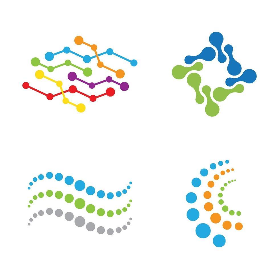 Molecule logo images vector