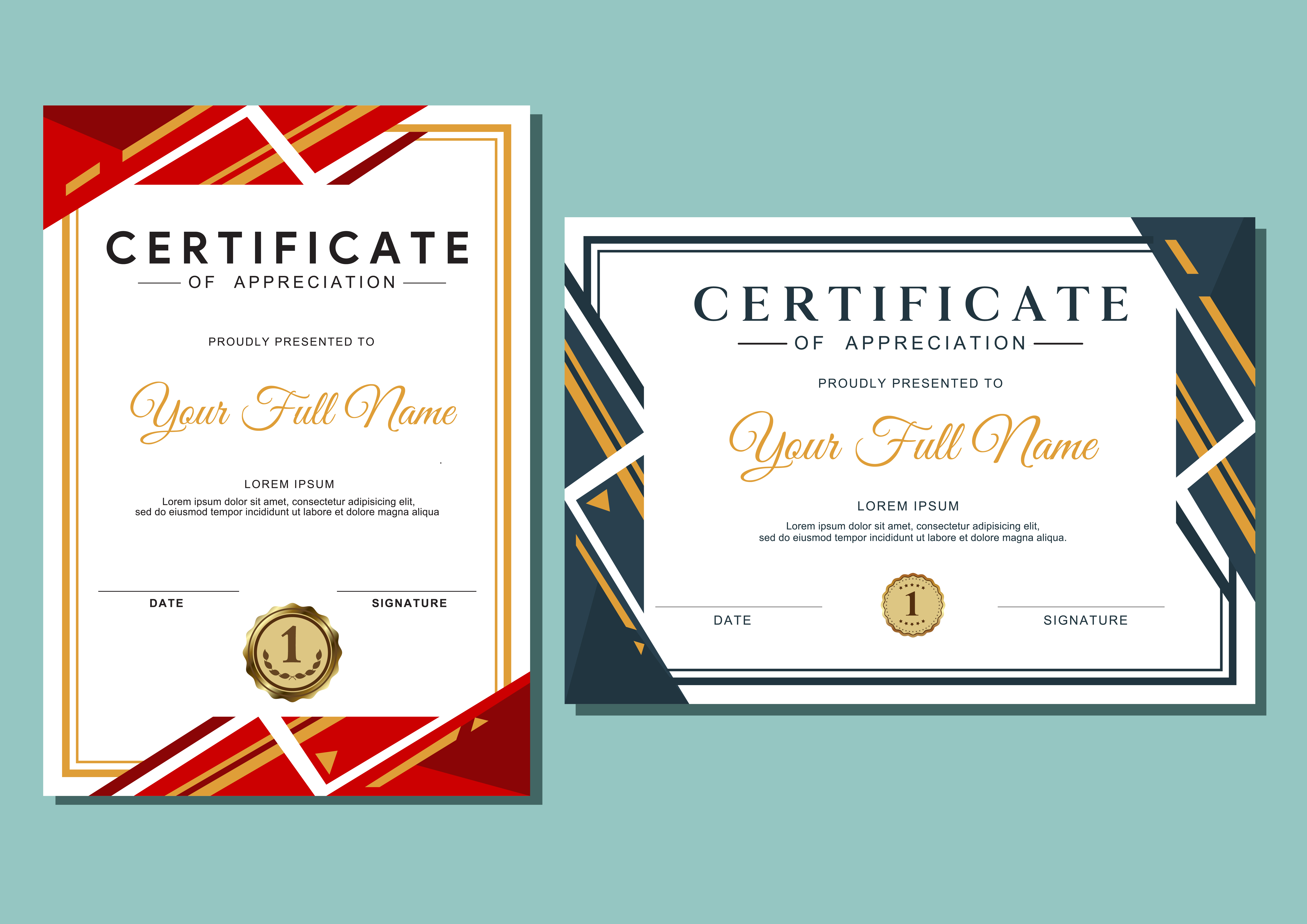 certificate template with luxury and modern pattern, diploma For Award Certificate Design Template