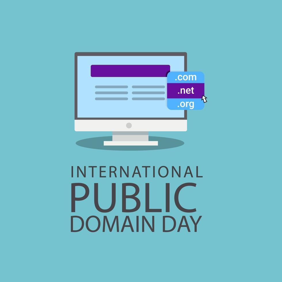 International Public Domain Day Celebration Vector Template Design Illustration