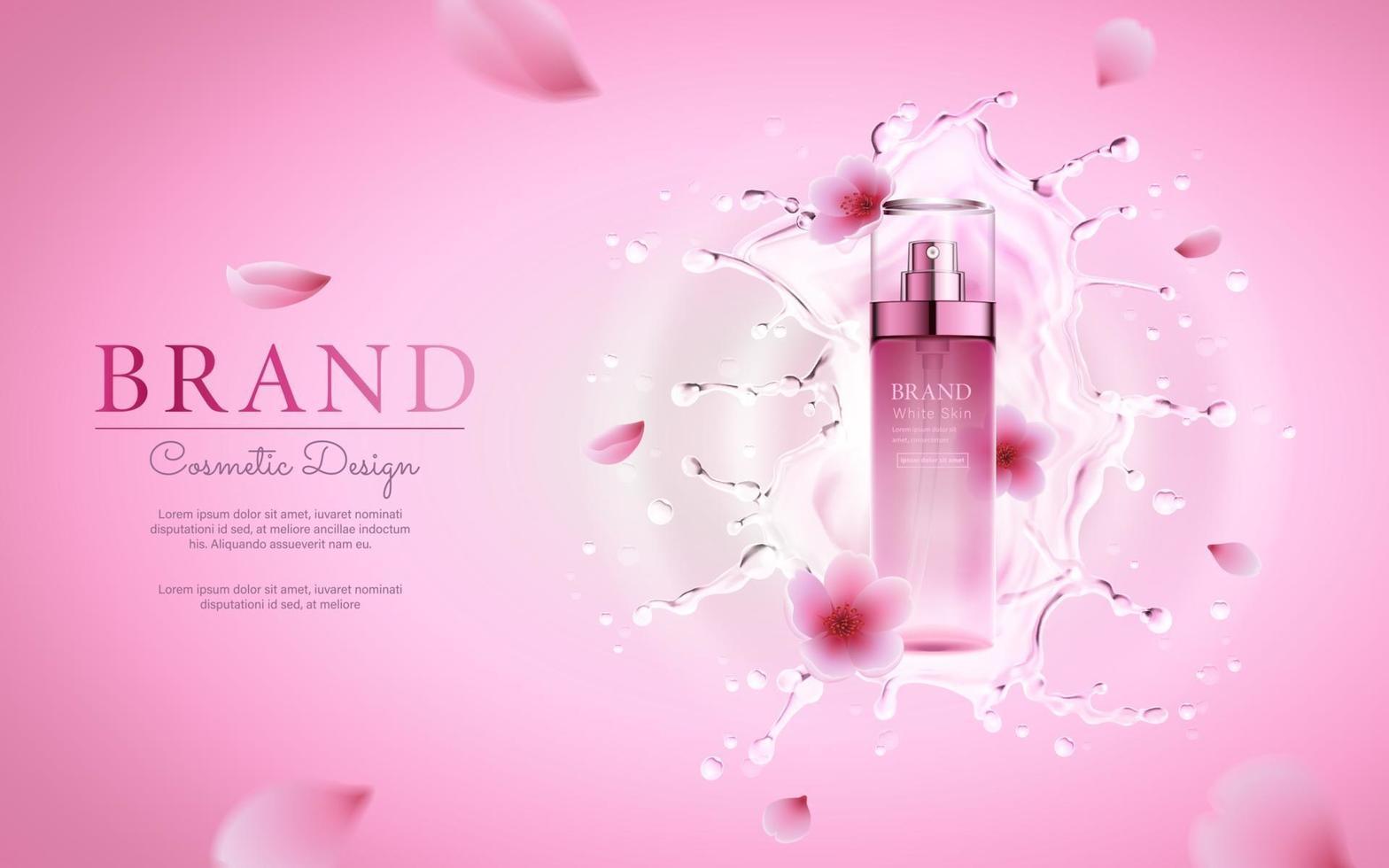 Realistic cosmetic advertisement editable banner vector