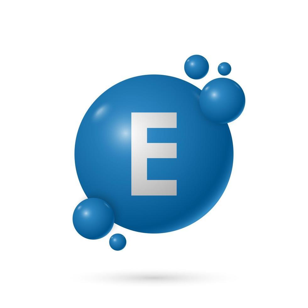 Vitamin E natural essence capsule, medicine and health, vector illustration