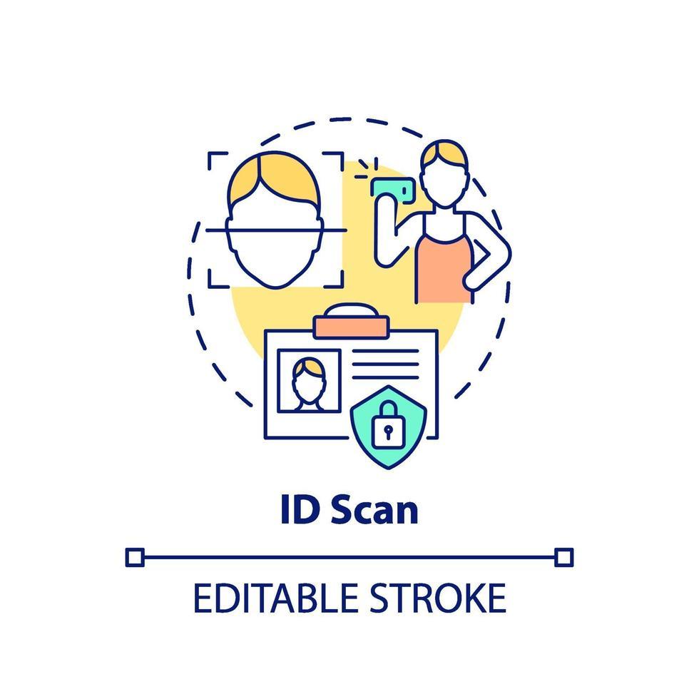 ID scan concept icon vector