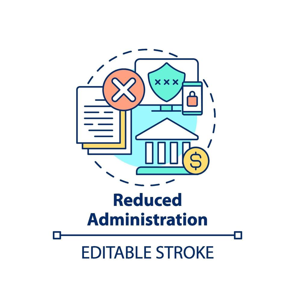 Reduced administration concept icon vector