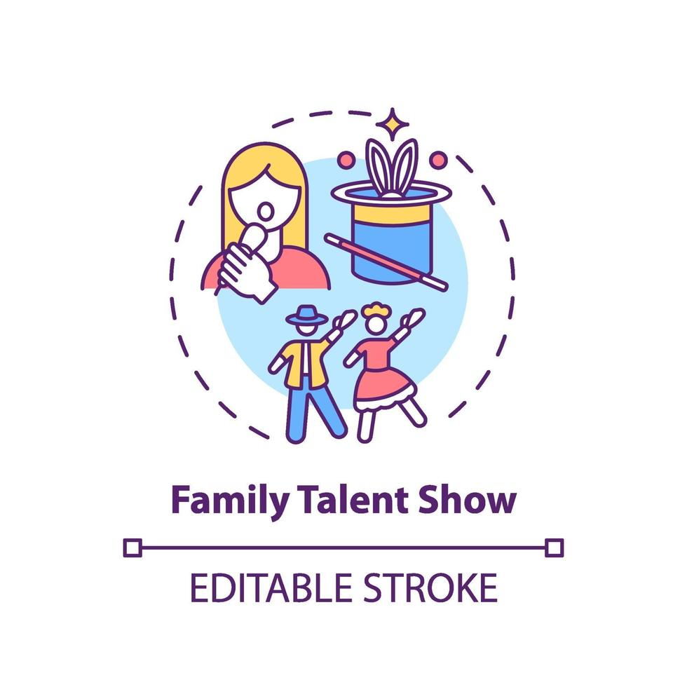 Family talent show concept icon vector