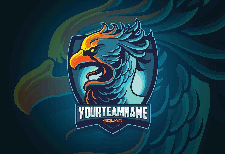 diseño de logo de phoenix esports vector