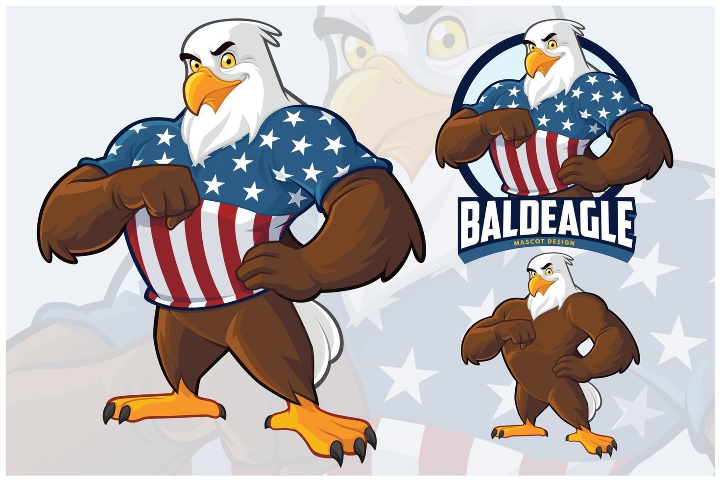Eagle Mascot Design Set vector
