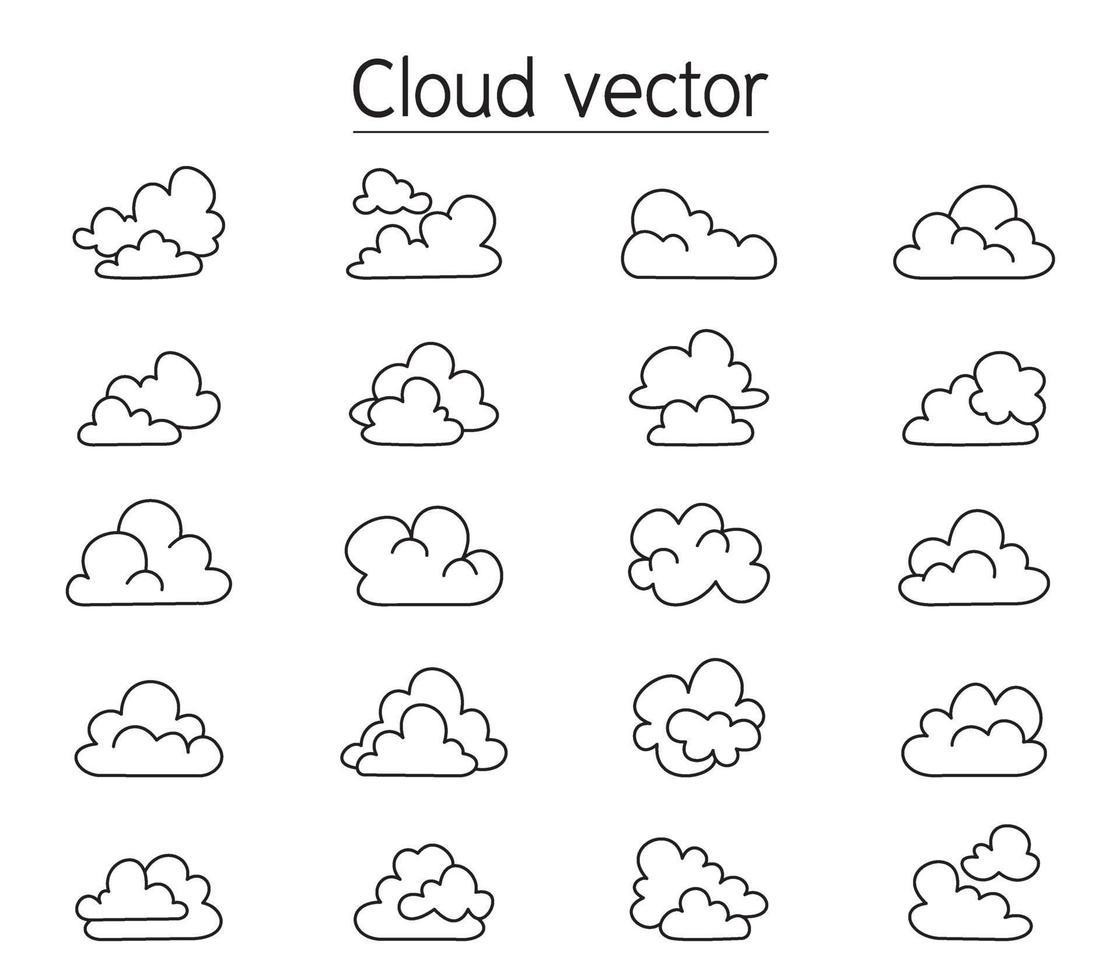Ilustración de vector de nube en estilo cómic
