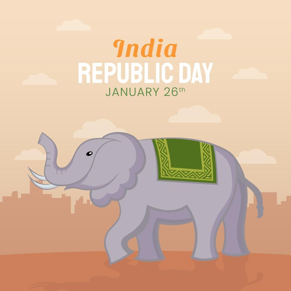 Hand drawn illustration of Indian Republic Day vector