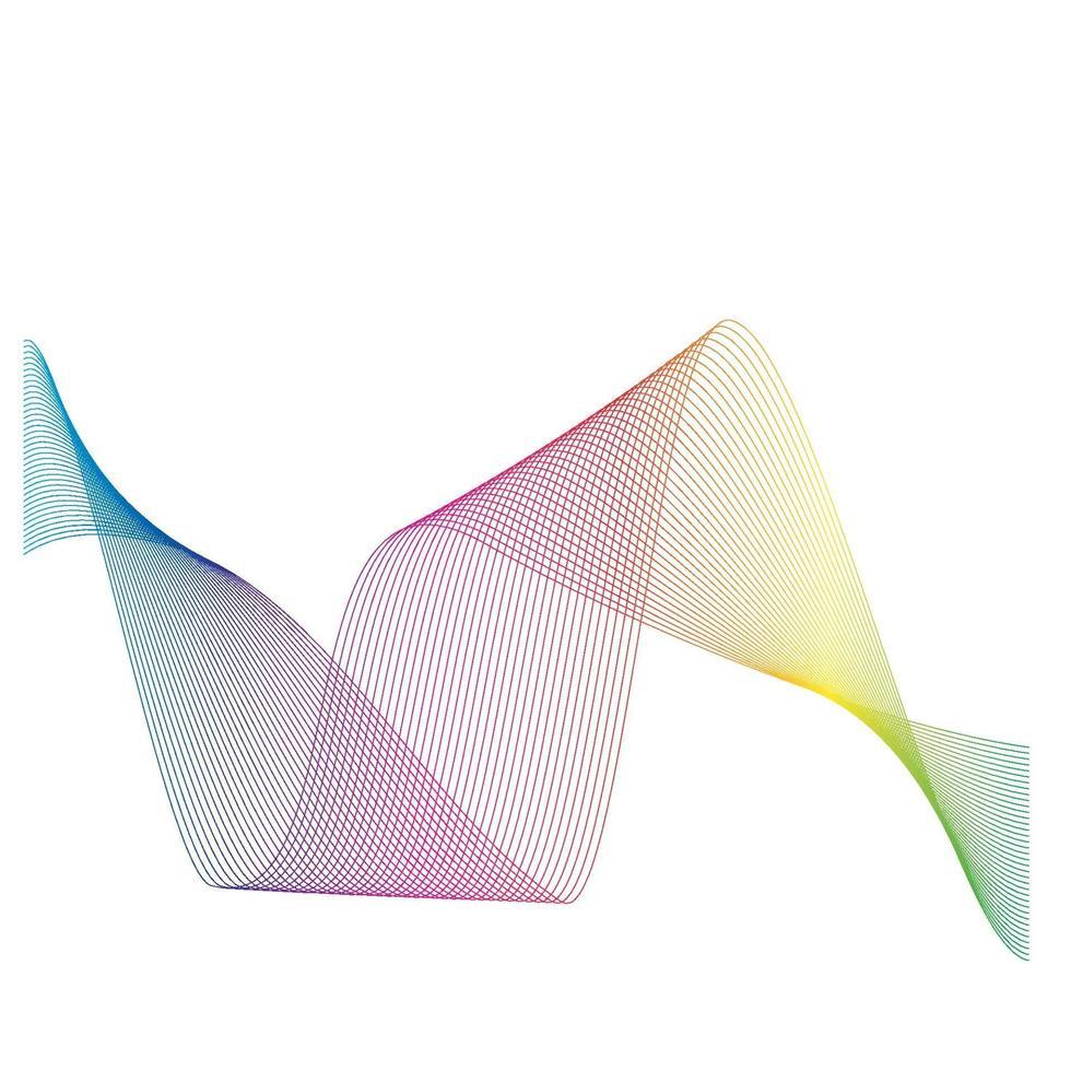 Diseño de ilustración de vector de línea de ondas de sonido